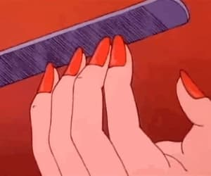 nails, red, and 90s image