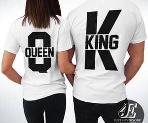 king queen, king and queen, and king queen shirts image