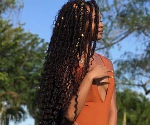 braids, hair, and black girls image