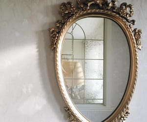 mirror, gold, and interior image