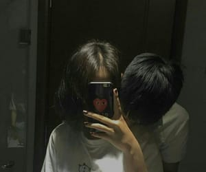 couple, korean, and mirror image