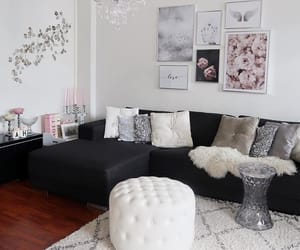 chandelier, living room, and decor image