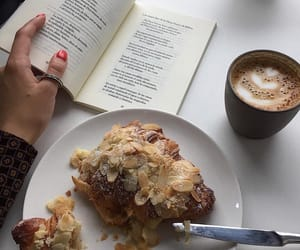 coffee, food, and books image
