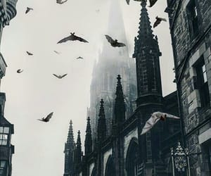 church, city, and Halloween image
