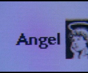 ángel, aesthetic, and purple image