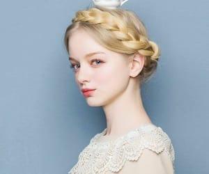 blonde, braids, and pastel image