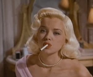 beautiful, cigarette, and Diana Dors image