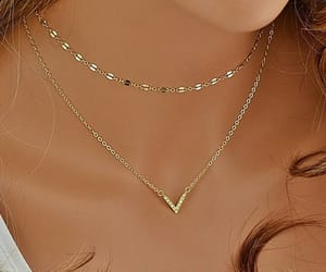 etsy, choker necklace, and goldnecklace image