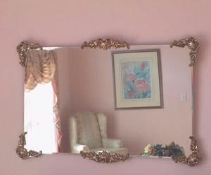 mirror, pink, and aesthetic image