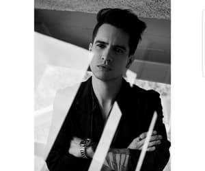 black white, brendon urie, and Hot image