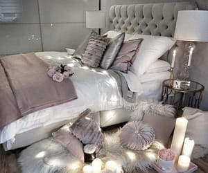 bedroom, home, and candles image