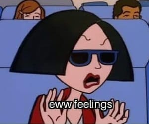 cartoon, feelings, and Daria image