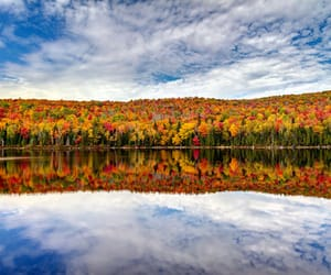 autumn colors, clouds, and colorful image