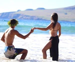 beach, photography, and tahiti image
