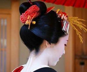 japan, beautiful, and geisha image