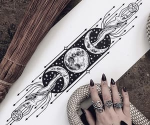 moon, moon phases, and tattoo image