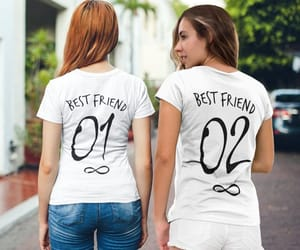 best friend forever, best friend goals, and bff t-shirts image
