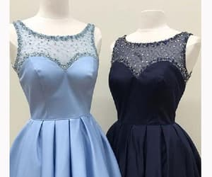 prom dress blue, short homecoming dresses, and a-line homecoming dresses image