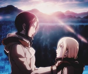 snk, ymir, and historia reiss image