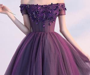 short sleeve prom dress, purple homecoming dresses, and prom dress a-line image