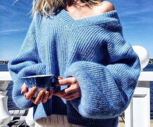 blue, clothes, and coffee image