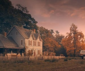garden, house, and sunrise image
