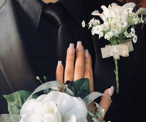 corsage, Prom, and nails image