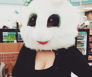 bunny, costume, and mask image