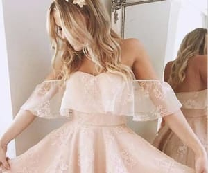 short homecoming dress, a-line homecoming dress, and lace homecoming dress image