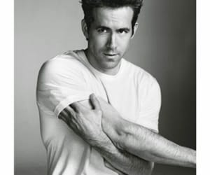 ryan reynolds, black and white, and Hot image