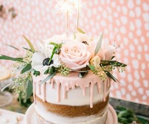 cake, flowers, and birthday image