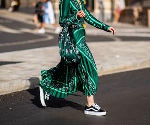 fashion, sea green, and silk image