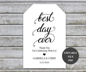 thank you, wedding favors, and wedding stationery image