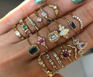 crystals, jewelry, and fashion image