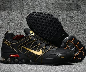 black, gold, and airmax 2018 image