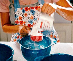 baking, books, and film image