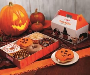 Halloween, pumpkin, and donuts image