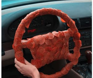 car, funny, and steering wheel image