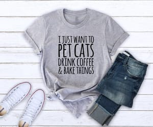 cat lady, men shirt, and gift best friend image