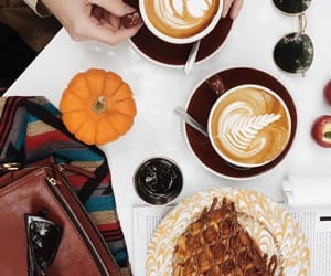 autumn, cafe, and coffee cup image