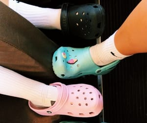 colors, crocs, and shoes image