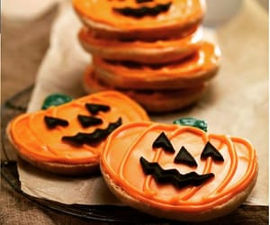 bat, pumpkins, and Cookies image