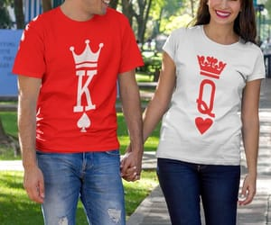 etsy, couples shirts, and king and queen shirt image