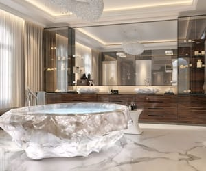 chandelier, design, and jacuzzi image