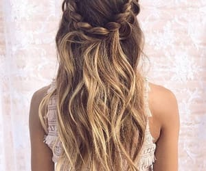 cheveux, mariage, and coiffure image