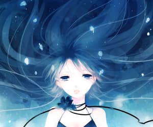 art, sad, and anime eyes image
