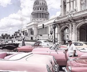 city, pink, and travel image