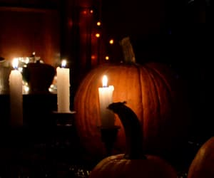 autumn, candles, and autumns image