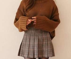 fashion, skirt, and sweater image