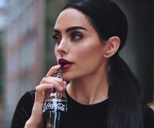 beauty, black, and coca cola image
